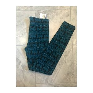 Black and Blue elephant print leggings